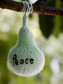 Peace. Harvest Festival yarn bombing by Yarn Forward - Sheffield October 2014