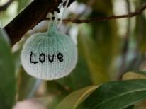 Love. Harvest Festival yarn bombing by Yarn Forward - Sheffield October 2014