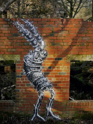 4. Green Man by Phlegm. Sheffield - November 2014