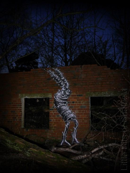 3. After Dark - Green Man by Phlegm - Sheffield - November 2014