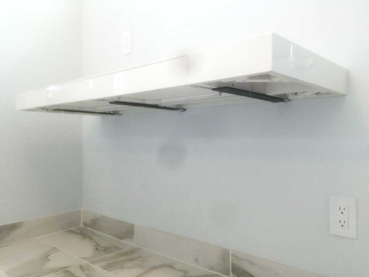 Floating Surface Adjustable Bracket  Patented Countertop