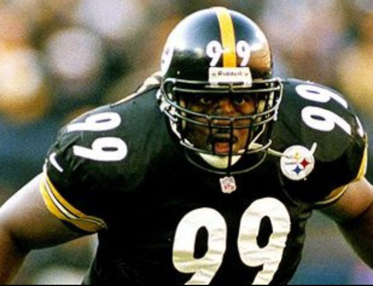9d06f4a0c54 Levon Kirkland – One of my favorite Steeler players of all time. Levon  Kirkland played inside linebacker at nearly 300 pounds