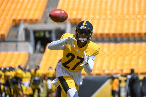 Pittsburgh Steelers safety Marcus Allen (27) trains at Heinz Field during the Steelers 2020 Training Camp, Monday, Aug. 17, 2020 in Pittsburgh, PA. (Karl Roser / Pittsburgh Steelers)