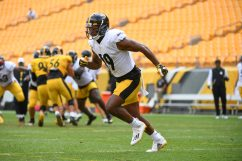 Pittsburgh Steelers wide receiver JuJu Smith-Schuster (19) trains at Heinz Field during the Steelers 2020 Training Camp, Tuesday, Aug. 18, 2020 in Pittsburgh, PA. (Karl Roser / Pittsburgh Steelers)