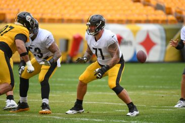 Pittsburgh Steelers offensive tackle Matt Feiler (71) trains at Heinz Field during the Steelers 2020 Training Camp, Monday, Aug. 31, 2020 in Pittsburgh, PA. (Karl Roser / Pittsburgh Steelers)