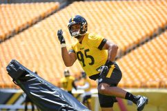 Pittsburgh Steelers nose tackle Chris Wormley (95) trains at Heinz Field during the Steelers 2020 Training Camp, Wednesday, Aug. 19, 2020 in Pittsburgh, PA. (Karl Roser / Pittsburgh Steelers)