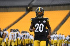 Pittsburgh Steelers cornerback Cameron Sutton (20) trains at Heinz Field during the Steelers 2020 Training Camp, Friday, Aug. 28, 2020 in Pittsburgh, PA. (Karl Roser / Pittsburgh Steelers)
