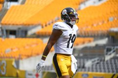 Pittsburgh Steelers wide receiver JuJu Smith-Schuster (19) trains at Heinz Field during the Steelers 2020 Training Camp, Friday, Aug. 21, 2020 in Pittsburgh, PA. (Karl Roser / Pittsburgh Steelers)