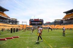The Pittsburgh Steelers train at Heinz Field during the Steelers 2020 Training Camp, Friday, Aug. 21, 2020 in Pittsburgh, PA. (Karl Roser / Pittsburgh Steelers)