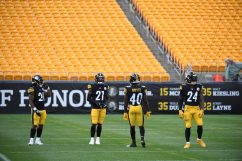 The Pittsburgh Steelers train at Heinz Field during the Steelers 2020 Training Camp, Saturday, Aug. 22, 2020 in Pittsburgh, PA. (Karl Roser / Pittsburgh Steelers)