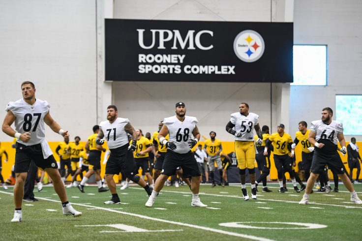 The Pittsburgh Steelers train at the UPMC Rooney Sports Complex during the Steelers 2020 Training Camp, Tuesday, Aug. 25, 2020 in Pittsburgh, PA. (Karl Roser / Pittsburgh Steelers)
