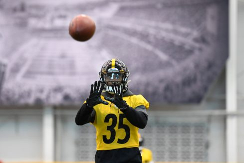 Pittsburgh Steelers cornerback Alexander Myres (35) trains at the UPMC Rooney Sports Complex during the Steelers 2020 Training Camp, Tuesday, Aug. 25, 2020 in Pittsburgh, PA. (Karl Roser / Pittsburgh Steelers)