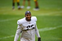 Pittsburgh Steelers tight end Eric Ebron (85) trains at Heinz Field during the Steelers 2020 Training Camp, Wednesday, Sept. 2, 2020 in Pittsburgh, PA. (Caitlyn Epes / Pittsburgh Steelers)