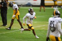 Pittsburgh Steelers wide receiver Ray-Ray McCloud (14) trains at Heinz Field during the Steelers 2020 Training Camp, Wednesday, Sept. 2, 2020 in Pittsburgh, PA. (Caitlyn Epes / Pittsburgh Steelers)