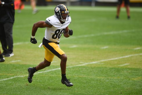 Pittsburgh Steelers wide receiver Saeed Blacknall (80) trains at Heinz Field during the Steelers 2020 Training Camp, Wednesday, Sept. 2, 2020 in Pittsburgh, PA. (Caitlyn Epes / Pittsburgh Steelers)