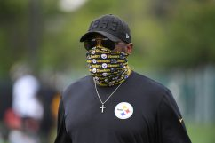 Pittsburgh Steelers Head Coach Mike Tomlin practices at the UPMC Rooney Sports Complex preparing for a Week 1 matchup against the New York Giants, Monday, Sept. 7, 2020 in Pittsburgh, PA. (Karl Roser / Pittsburgh Steelers)