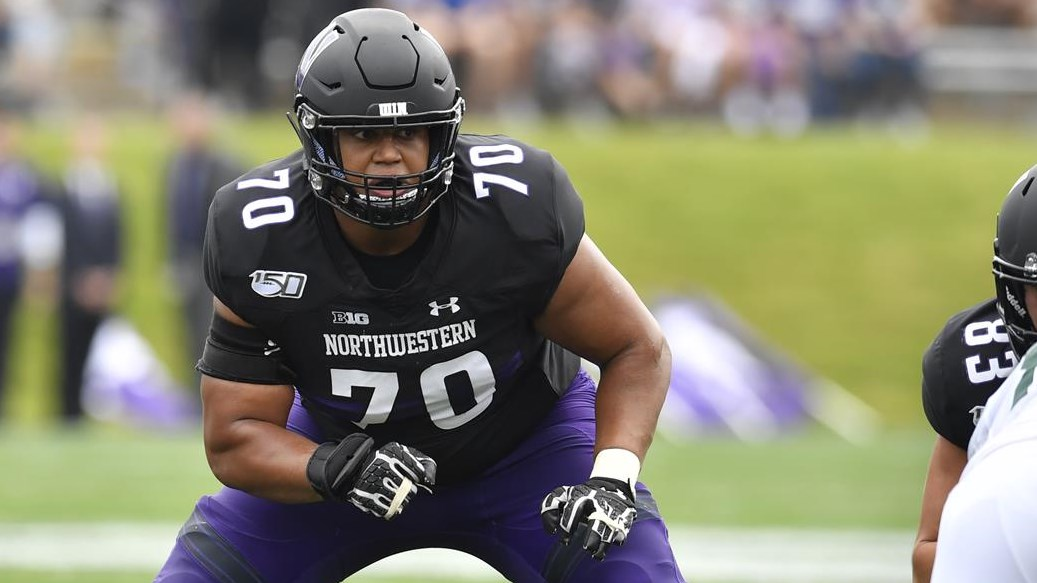 Northwestern OT Rashawn Slater Puts Film over Measurables | Steelers Now