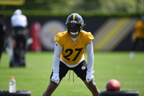 Pittsburgh Steelers linebacker Marcus Allen (27) participates in the Organized Team Activities (OTAs), Tuesday May 25, 2021 at the UPMC Rooney Sports Complex. (Karl Roser / Pittsburgh Steelers)