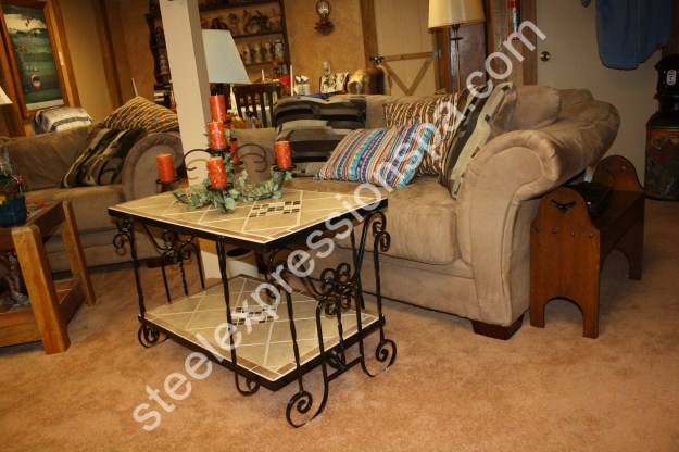 custom wrought iron coffee tables - steel expressions, lancaster