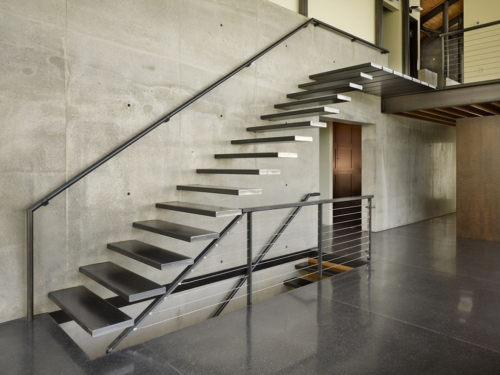 Steel Staircase Steel Fabrication Services | Modern Steel Staircase Design | Small House | Beautiful | Handrail | Solid Steel | Gallery