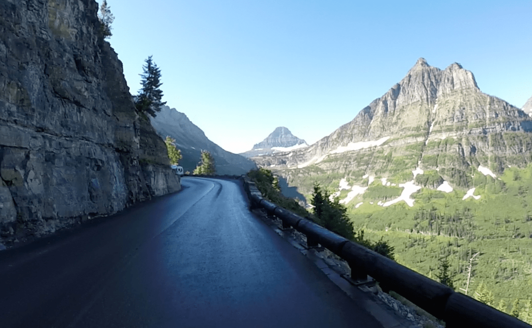 Going to the Sun Road Steep Sheer