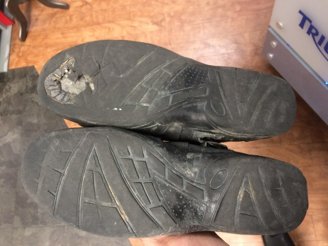 Worn out Tourmaster boots