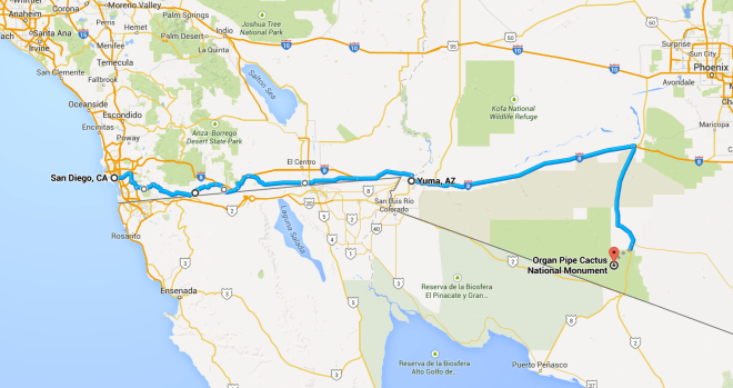 Day 15 Route