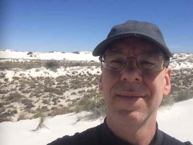 Selfie at the White Sands National Monument