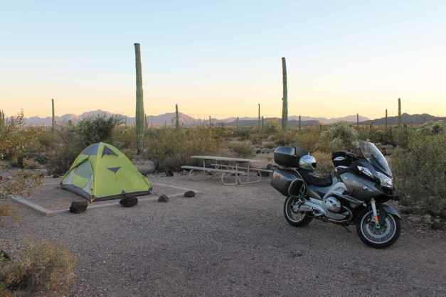 Camp at Organ Pipe Cactus Natl Monument