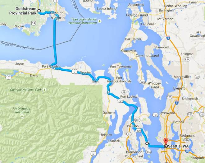 Day 8 Route with Ferries