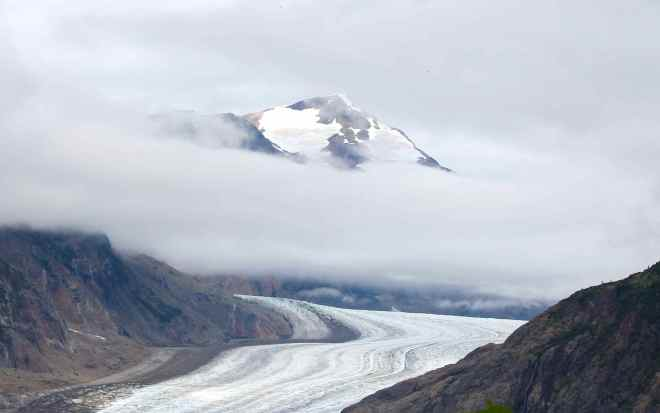 View of the Toe of Salmon Glacier