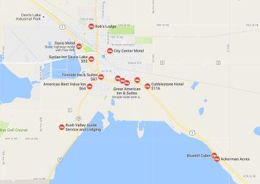 Motel's near Devil's Lake