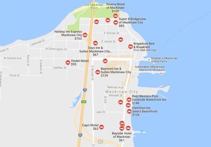 Motels near Mackinaw City