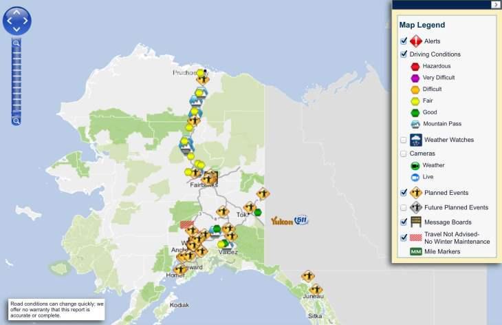 511 Alaska Map