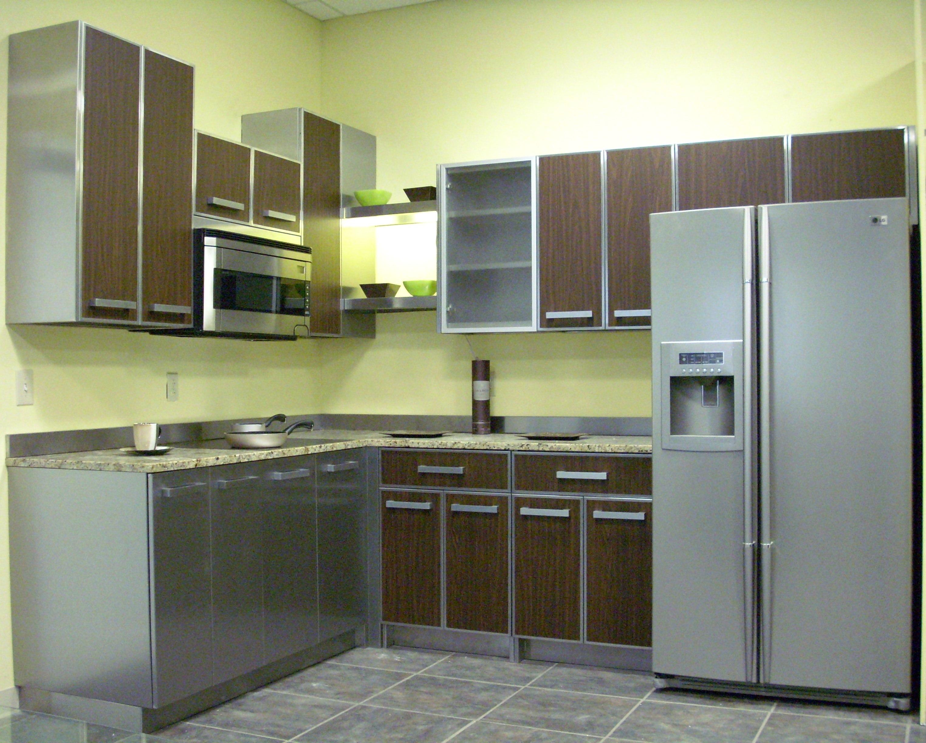 metal cabinets kitchen luxury appliances stainless steel steelkitchen classic