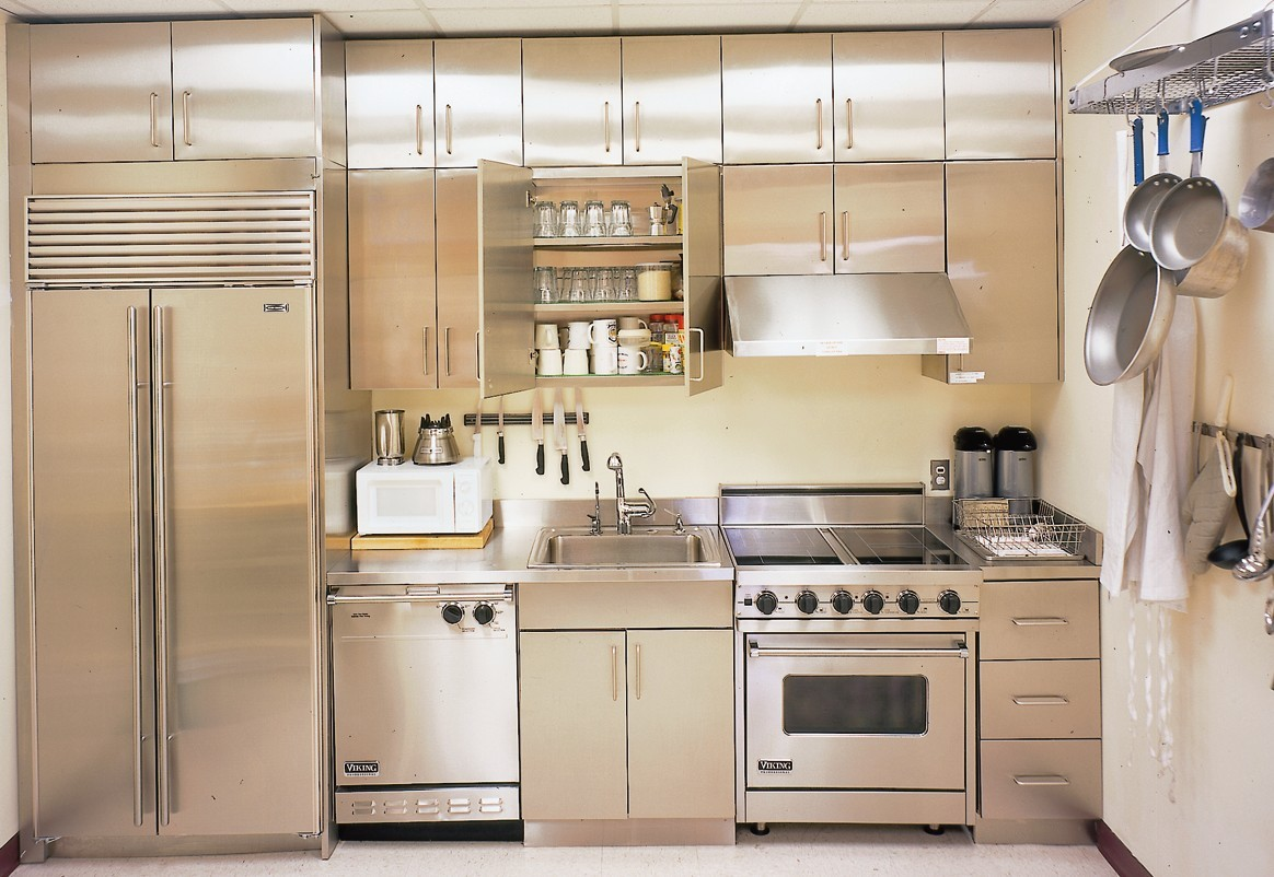 countertops kitchen hanging lights stainless steel cabinets | steelkitchen