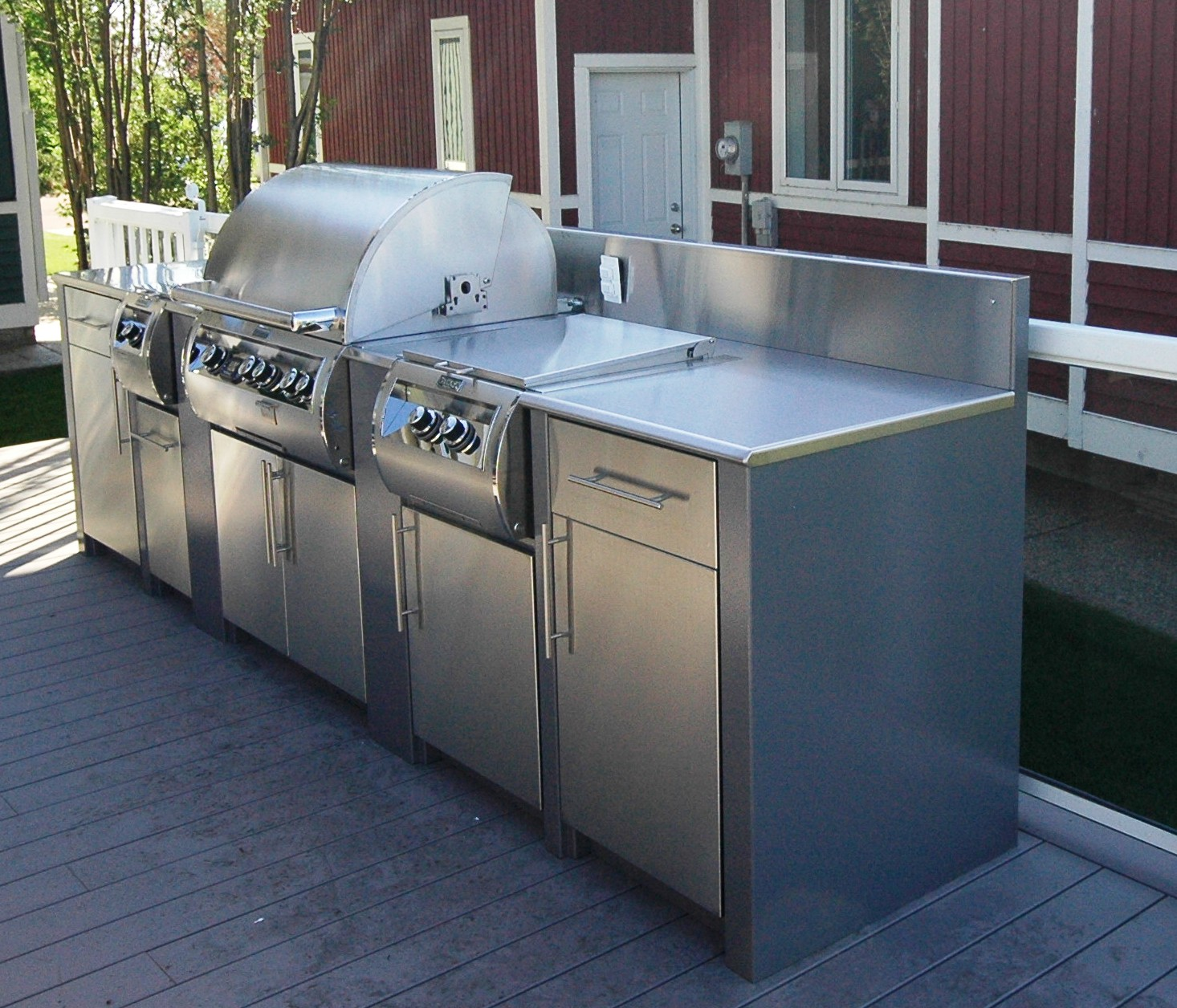 stainless steel outdoor kitchen schrock cabinets kitchens steelkitchen