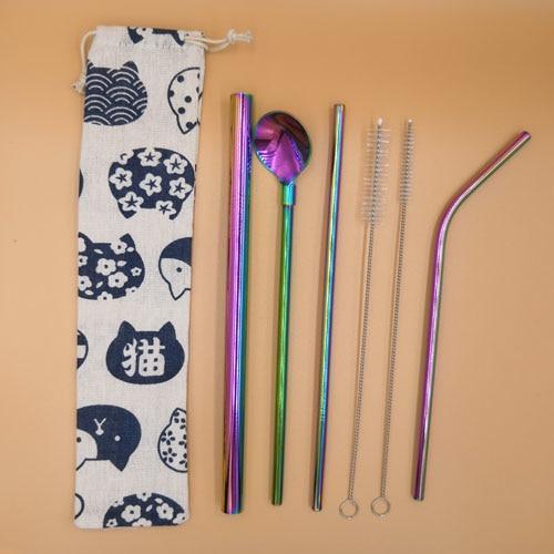 Stainless Steel Straws Set