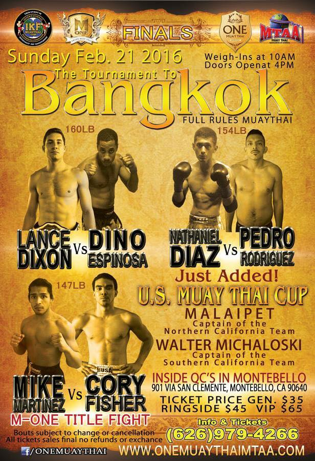 muay thai feb 21st flyer