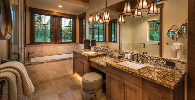 Master Bathroom | Steel Partners Lighting Rustic Lighting Outfitters USA