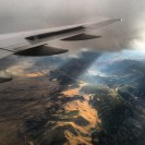flying over B town