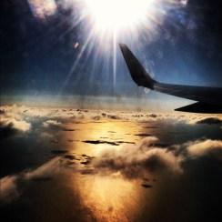 flying somewhere