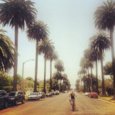 Jamie biking in Santa Monica