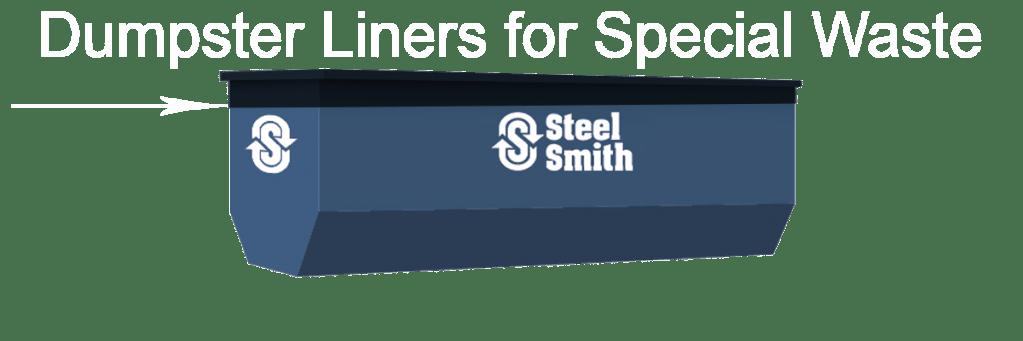 an illustration of a dumpster liner for special waste
