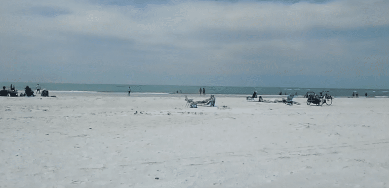 a photo of Bradenton Beach where SteelSmith provides Dumpster Rentals