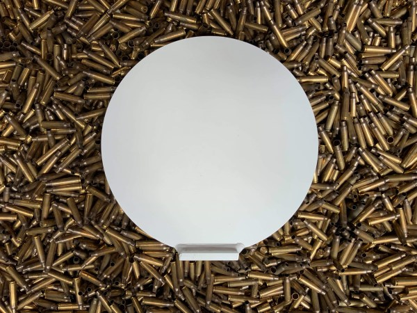 300mm knockdown plate in AR500 steel. Steel Targets NZ