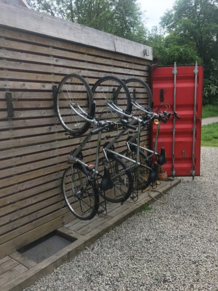 Dawes Bikes at the Snail Pace Cafe