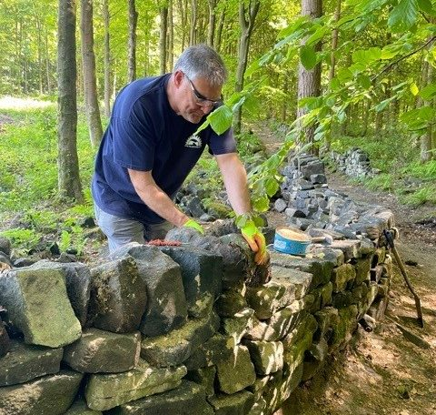 SVP conservation volunteer dry stone walling