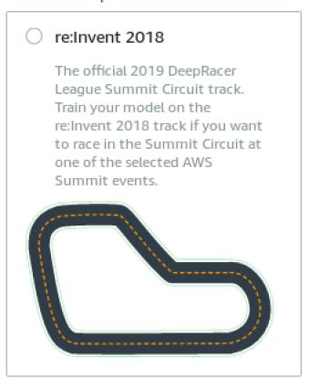 """Résultat de recherche d'images pour """"track available in deep racer"""""""