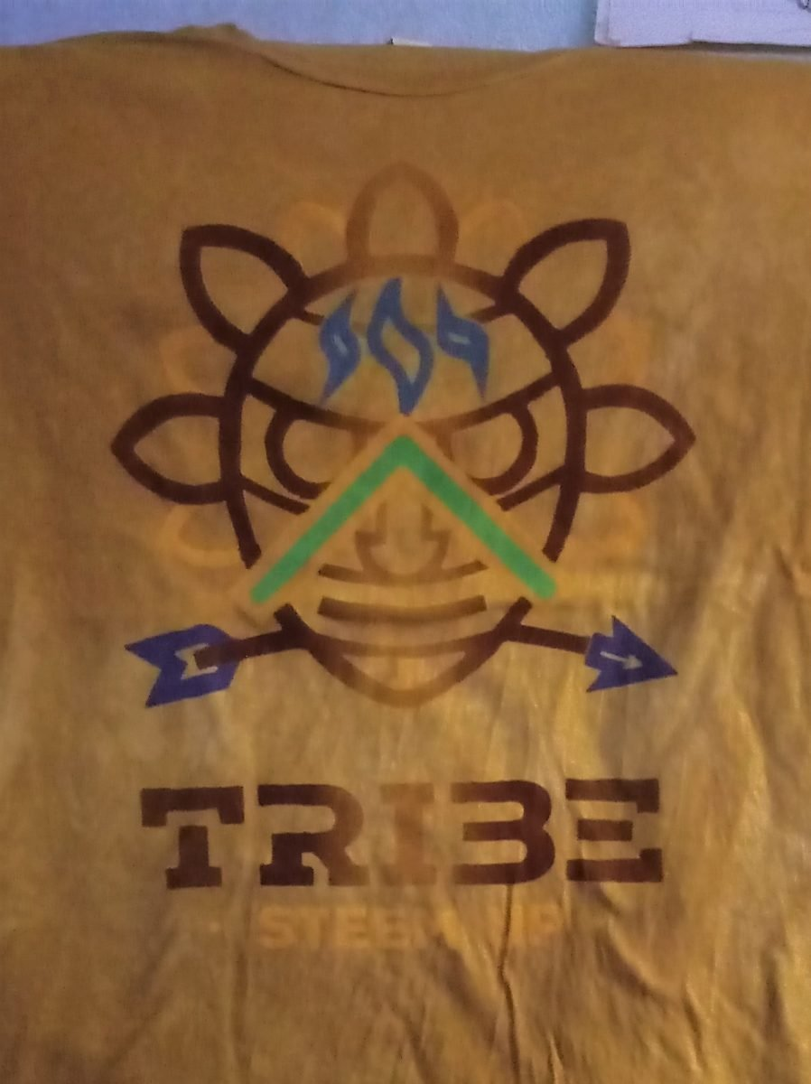 Tribe Steem Up Unbleached, 100% Organic, Hand Herbal Dyed Fabric, Fair Trade Spirit Shirts